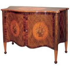 19th Century Harewood Serpentine 2-Door Cabinet