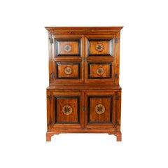 19th Century Heart Pine Step Back Cupboard