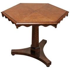 19th Century Hexagonal Irish Estate Table