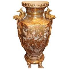 19th Century, Hexagonal Satsuma Vase Painted in Enamels, Japan