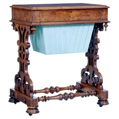 19th Century High Victorian Burr Walnut Occasional Table