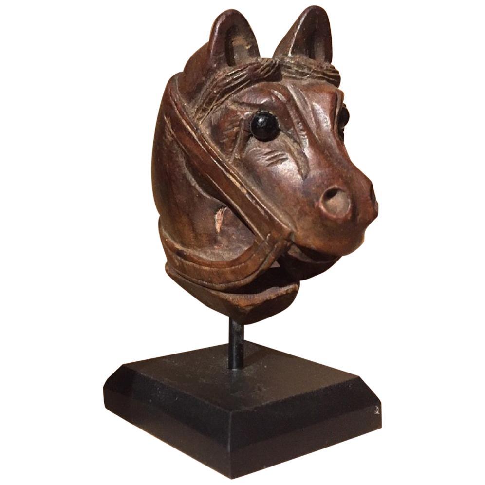 19th Century Horse Pipe Head
