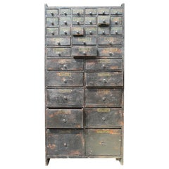 19th Century Horticulturalist Merchants Bank of Seed Shop Drawers