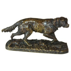 19th Century Hunting Dog by P.J Probably Leads Spaniel