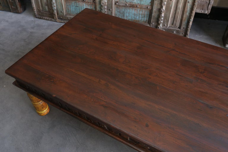 19th Century Idealistic Solid Teak Wood Coffee Table from ...
