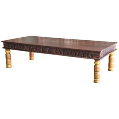 19th Century Idealistic Solid Teak Wood Coffee Table from a Tea Plantation