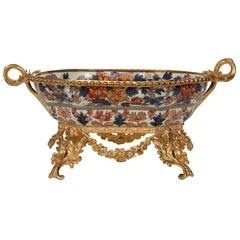 19th Century Imari Bowl with an Elegant French 19th Century Louis XVI St. Base