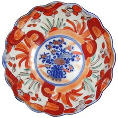 19th Century Imari Japanese Meiji Scalloped Bowl