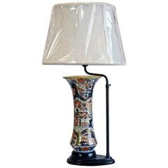 Imari-Vase aus dem 19. Jahrhundert als Lampe