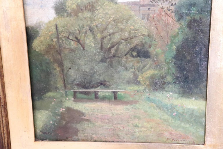 19th Century Important Italian Artist Oil Painting on Canvas Landscape In Excellent Condition For Sale In Bosco Marengo, IT