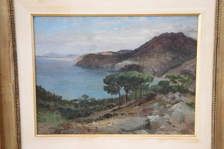 Important oil painting on wood coming from a collection of 19th century works. Painting signed by Pietro Sassi, an artist of great importance, who entered the history of art among the great 20h century Italian painters. This painting is signed and