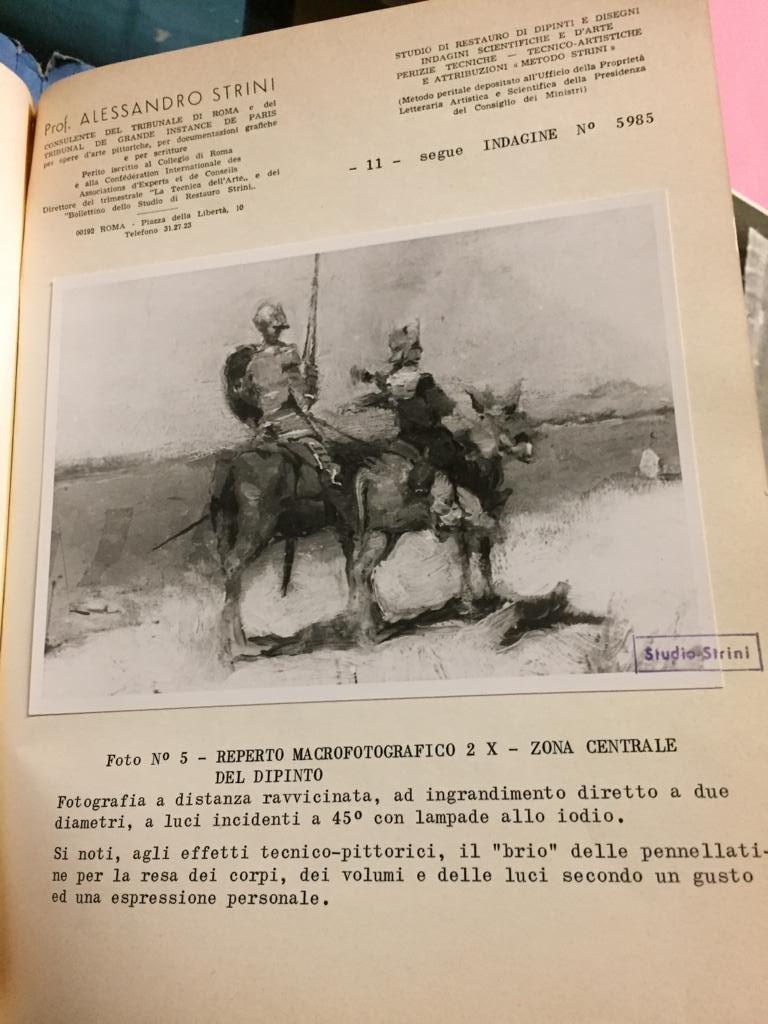 19th Century Impressionist Oil Painting Don Quixote De La Mancha