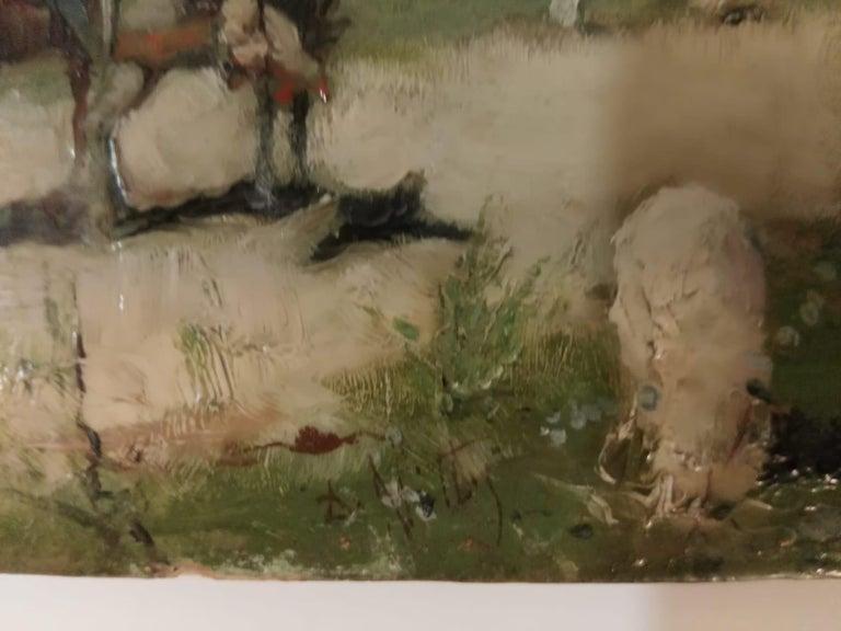 19th Century Impressionist Oil Painting Don Quixote De La Mancha For Sale 2