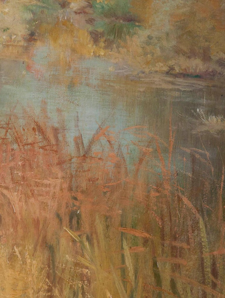 Late 19th Century 19th Century Impressionistic Oil Painting by Pierre Georges Jeanniot For Sale