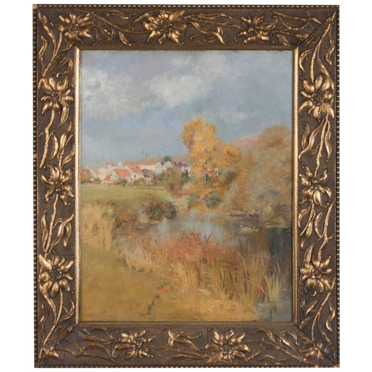 19th Century Impressionistic Oil Painting by Pierre Georges Jeanniot For Sale