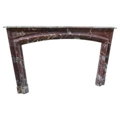 19th Century in Louis XIV Style Languedoc Marble Fireplace Mantel