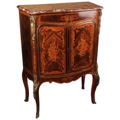 19th Century in the Style of the Louis XV Napoleon III Inlaid Cabinet