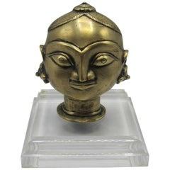 19th Century Indian Bronze Head of Gauri