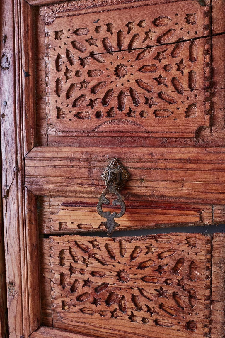 19th Century Indian Carved Panel with Shutter Windows For Sale 4