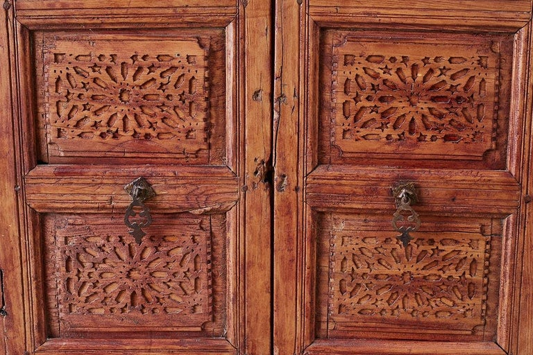 19th Century Indian Carved Panel with Shutter Windows For Sale 6