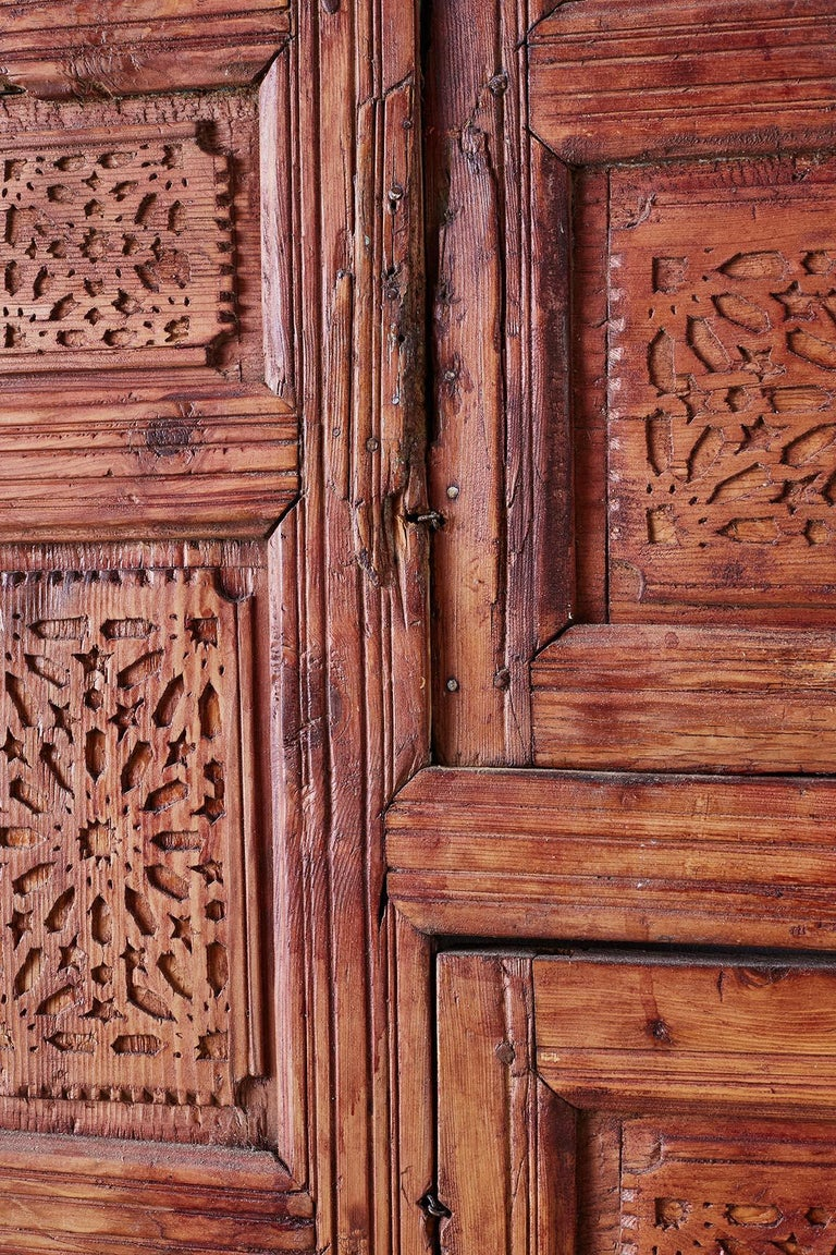 19th Century Indian Carved Panel with Shutter Windows For Sale 8