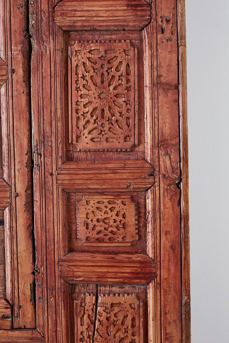 19th Century Indian Carved Panel with Shutter Windows For Sale 9