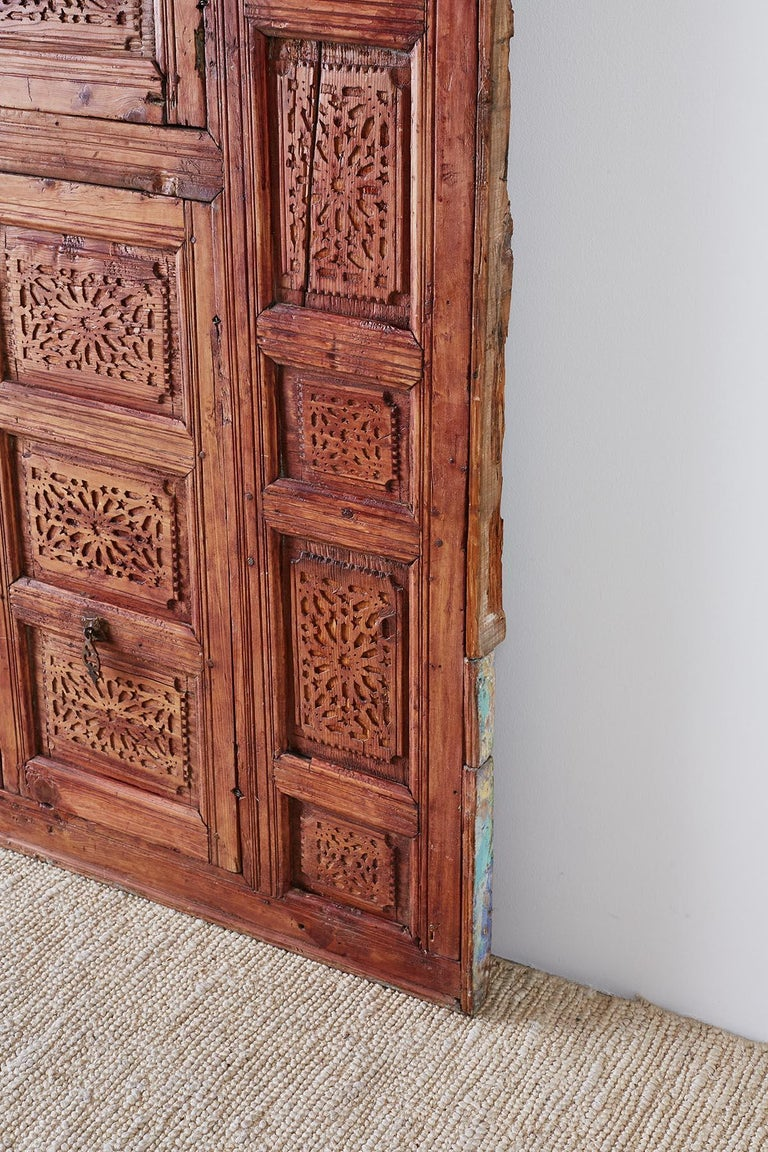 19th Century Indian Carved Panel with Shutter Windows For Sale 10
