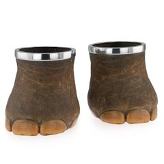 19th Century Indian Elephant Foot Wine Coolers / Planters, Peter Orr Circa 1850