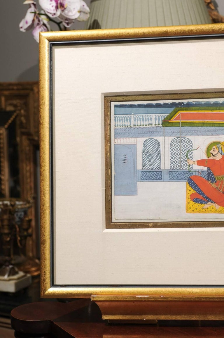 19th Century Indian Gouache Painting In Good Condition For Sale In Chamblee, GA