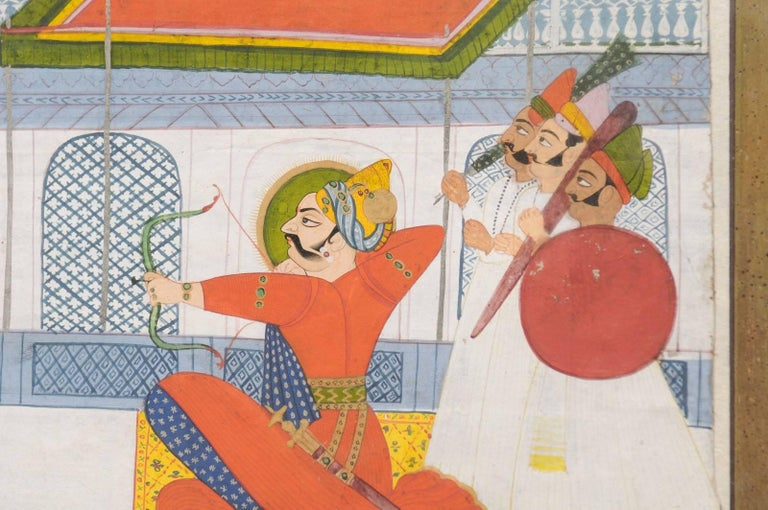 19th Century Indian Gouache Painting For Sale 1