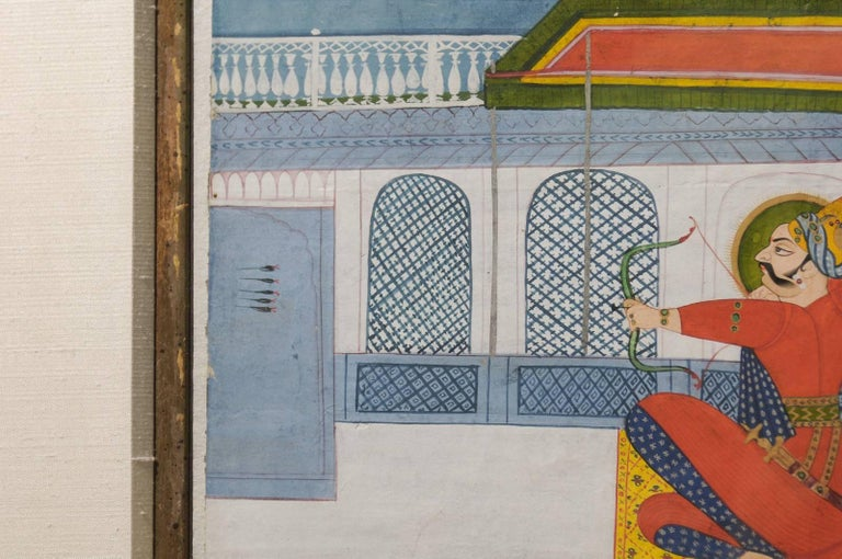 19th Century Indian Gouache Painting For Sale 2
