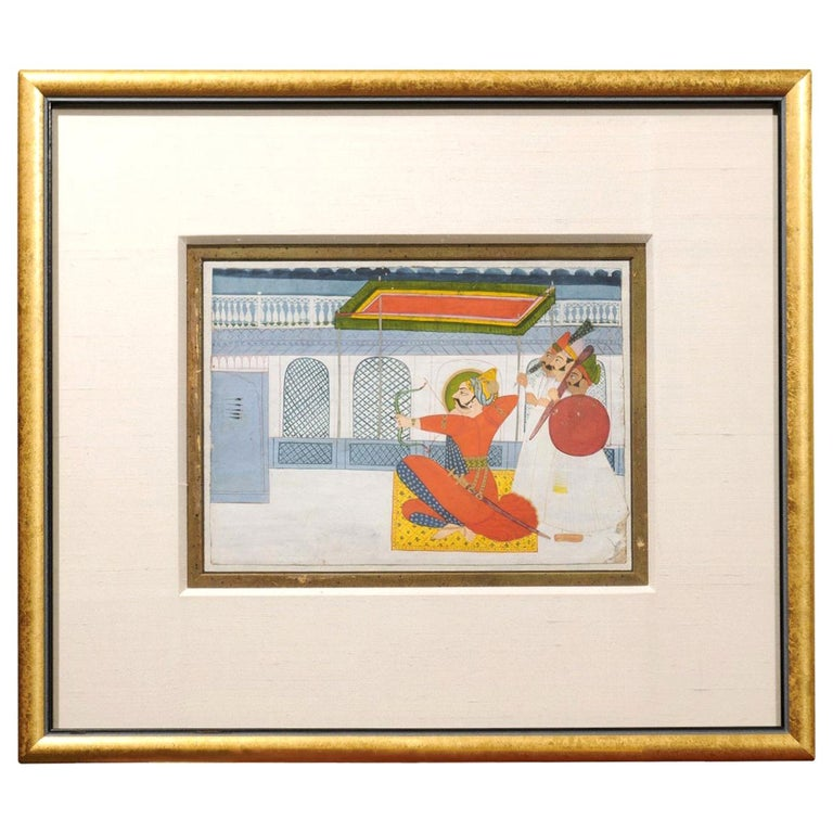19th Century Indian Gouache Painting For Sale