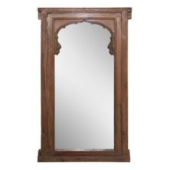 19th Century Indian Mehrab Window Mirror