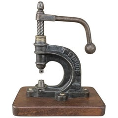 19th Century Industrial Button Press