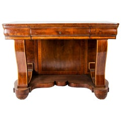 19th Century Inlaid Biedermeier Console Table