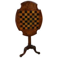19th Century Inlaid Burr Walnut, Games Table