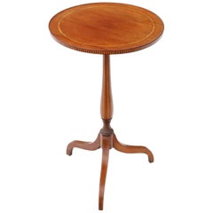 19th Century Inlaid Mahogany Wine Table Side Occasional