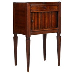 19th Century Inlaid Tambour Front Side Table