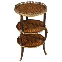 19th Century Inlaid Wood Napoleon III French Coffee Table, 1880