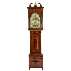 18th Century Inlay Mahogany Wood Long Case Clock