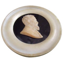 "19th Century Intaglio Portrait Roundel ""Grand Tour Souvenir"" of Michelangelo"