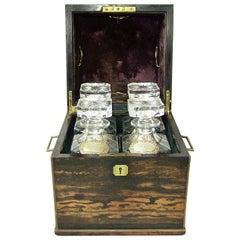 19C Irish Coromandel Campaign Decanter Box by Austin's of Dublin