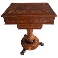 19th Century Irish Killarney Work Table