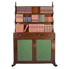 19th Century Irish Regency Bookcase by Williams & Gibton of Dublin, Ireland