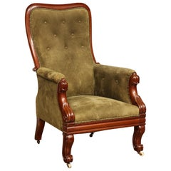 19th Century Irish, William IV Mahogany Armchair