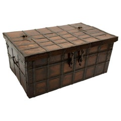 19th Century Iron-Bound Teak Trunk, Rajasthan, India, circa 1860