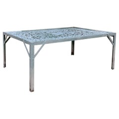 19th Century Iron Panel Coffee Table
