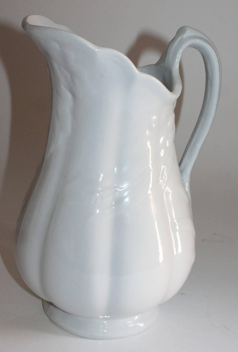 19th Century Ironstone Wheat Water Pitchers In Excellent Condition For Sale In Los Angeles, CA