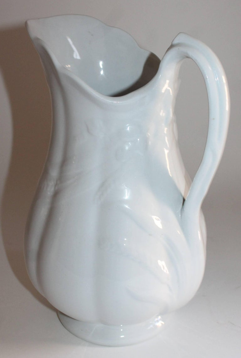 19th Century Ironstone Wheat Water Pitchers For Sale 1