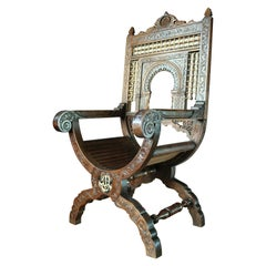 19th Century Islamic Armchair in the Morrish Style